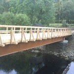Newly constructed access bridge